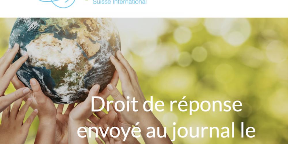 Réponse de Réinfocovid suisse au journal Le Temps