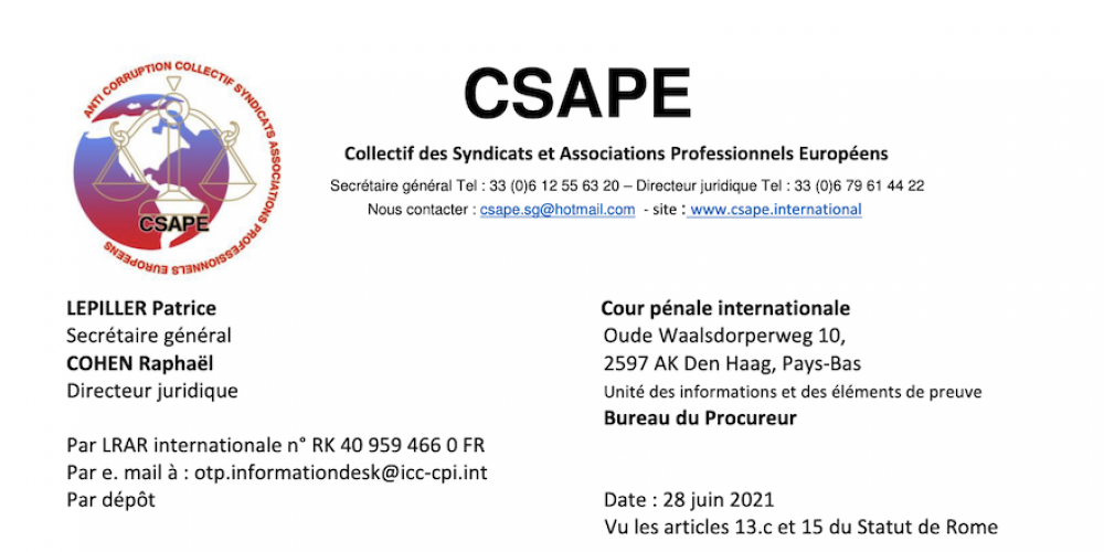 Covid : plainte déposée contre la France devant la Cour pénale internationale pour crime contre l'humanité