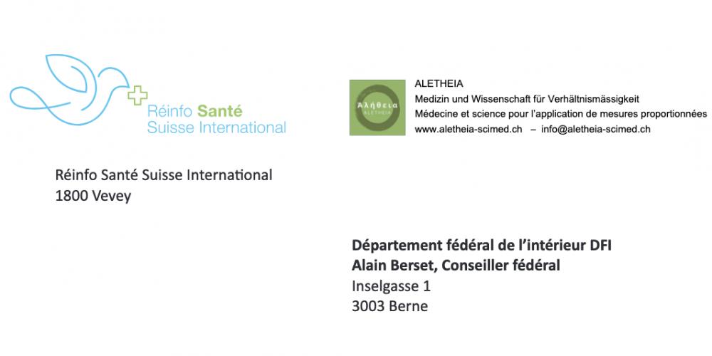 Réinfo Santé Suisse renouvelle sa demande de moratoire urgent sur les «vaccins» contre le Sars-CoV-2